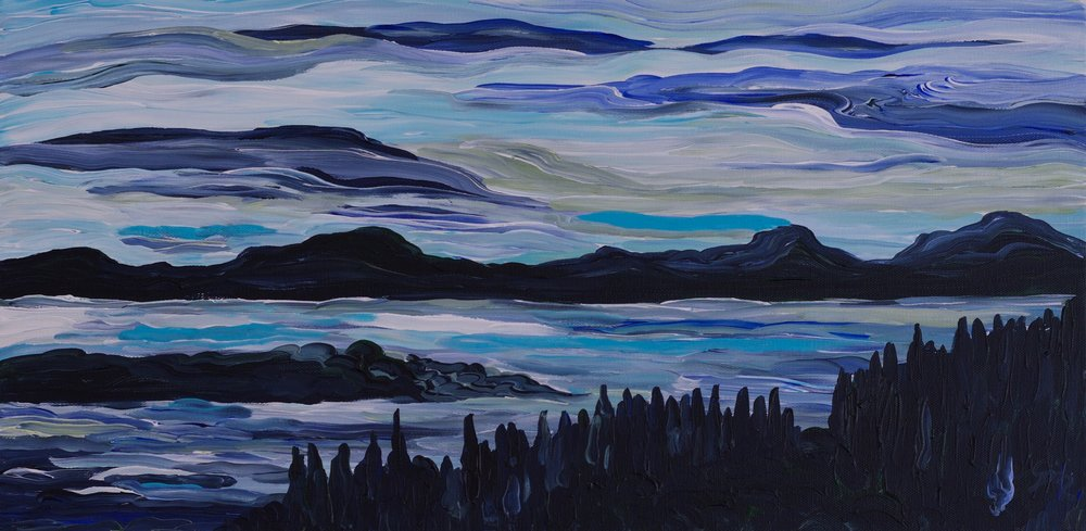 """Alberta Horizons I, 12"""" x 24"""""""