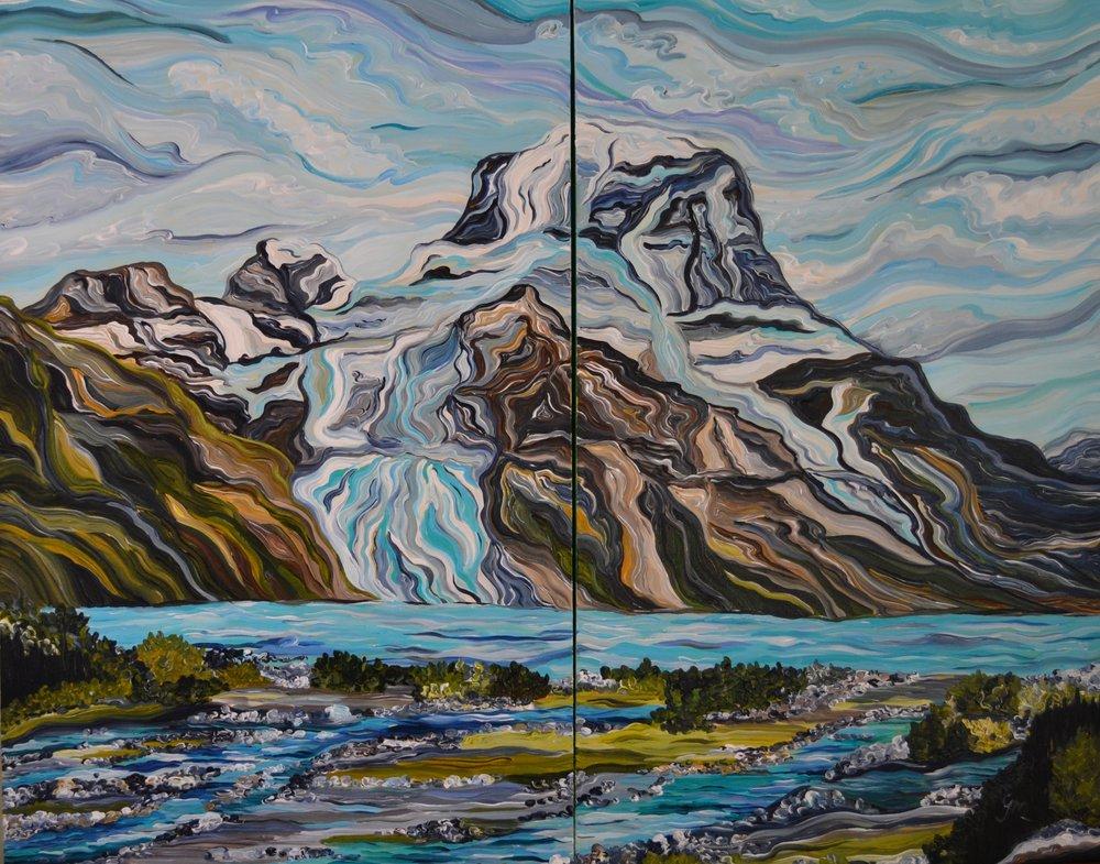 """Berg Lake, 2 x 48"""" x 36"""""""