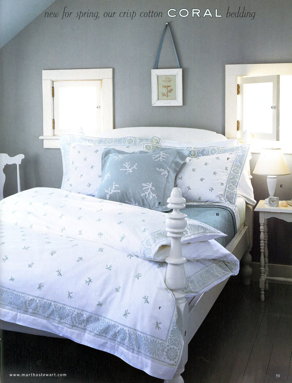 bedding for Martha Stewart