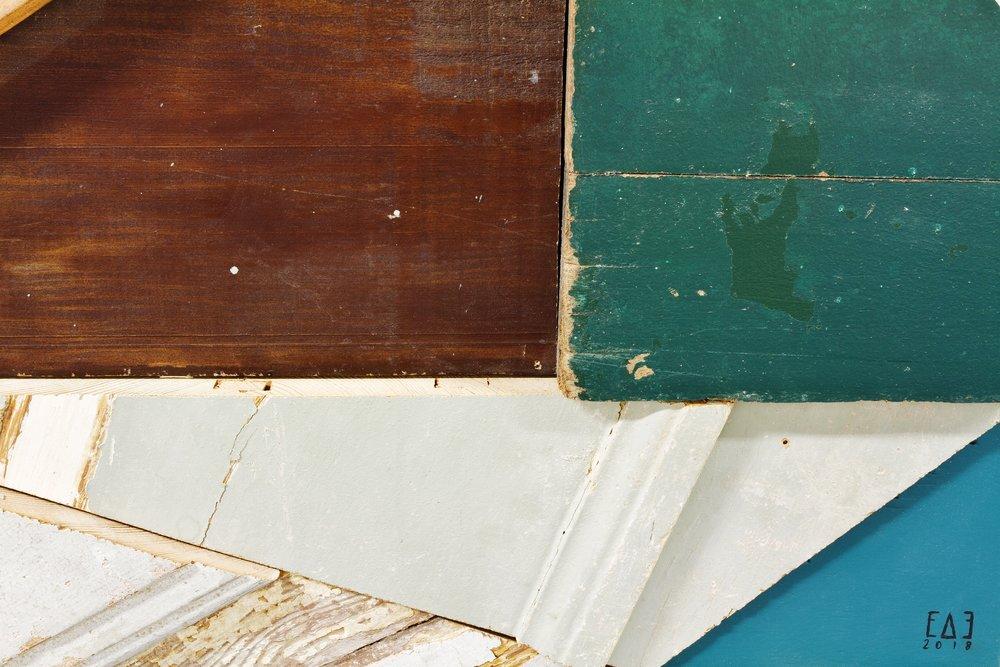 detail: reclaimed wood assemblage | | image: Marcelo Duarte @graphosbrasil