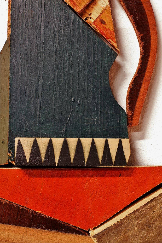 reclaimed wood assemblage | image: Marcelo Duarte @graphosbrasil