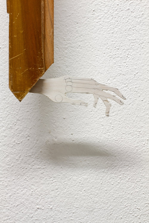detail: reclaimed wood assemblage | image: Marcelo Duarte