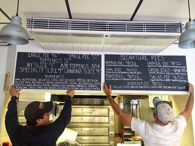 Menu boards are up... pizza soon... #pizza #instapizza #handmade #nycstyle #irvington #Westchester #loud #lohudfood