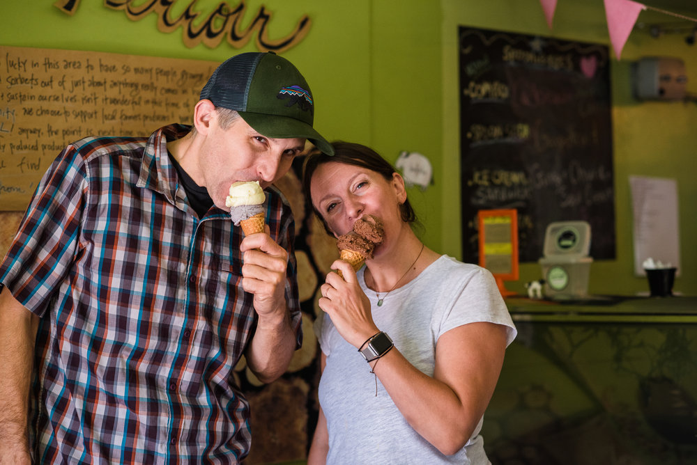 Gab Carbone and Matt Errico    Bent Spoon Artisan Ice Cream    Artisan ice creams and sorbets featuring the flavors of New Jersey farms and woodlands