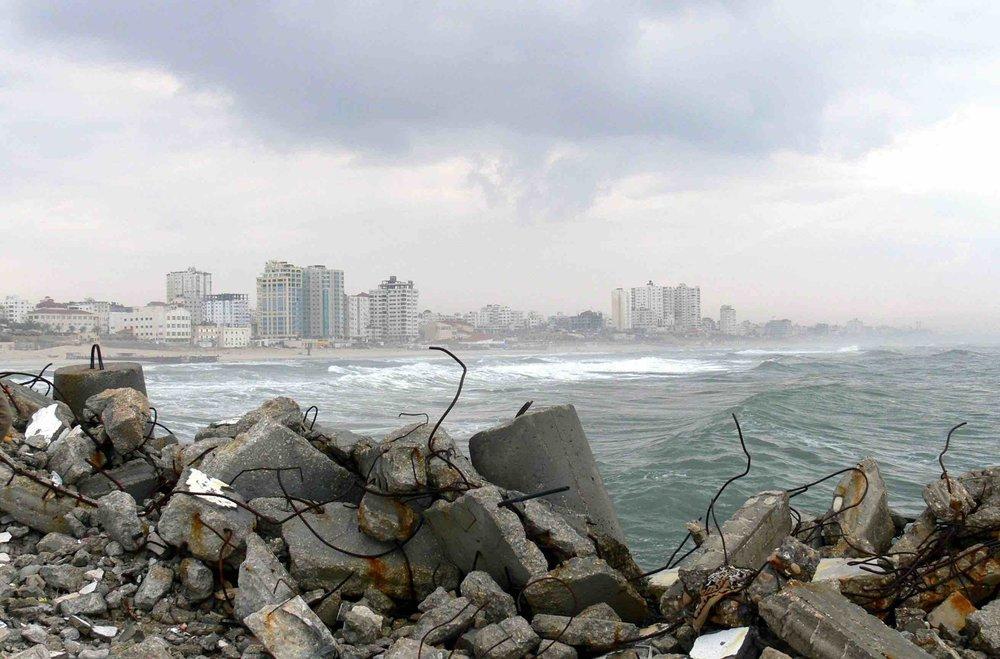 Beach in Gaza.