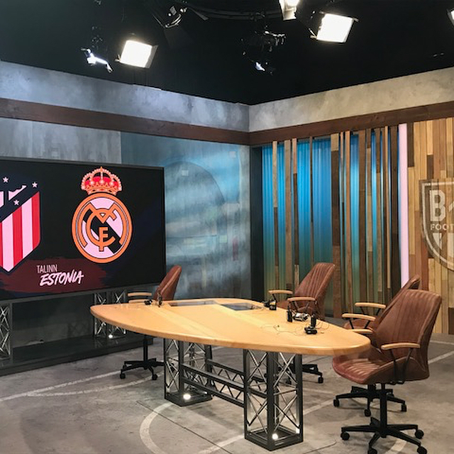 Set ready: ✅ Mics ready: ✅ Talent ready: ✅  Everyone ready: ✅  @realmadrid takes on @atleticodemadrid in the UEFA SuperCup. Coverage begins TODAY at 2pm/et on #brlive and TNT!