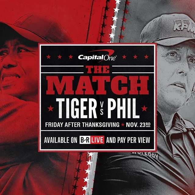 WarnerMedia announces pricing and distribution partnerships for Capital One's The Match: Tiger vs. Phil; blockbuster pay per view event to tee off Friday, Nov. 23, 3pm/ET with a suggested retail price of $19.99.