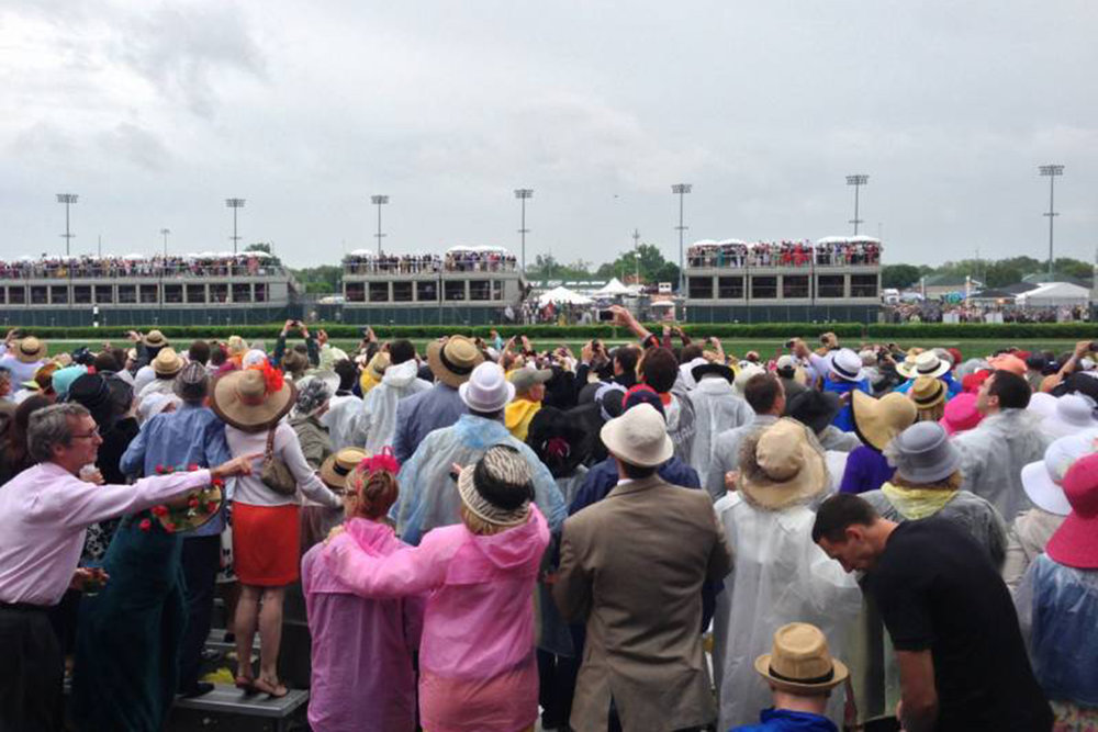 the grandstand area at churchill downs offers a more limited view