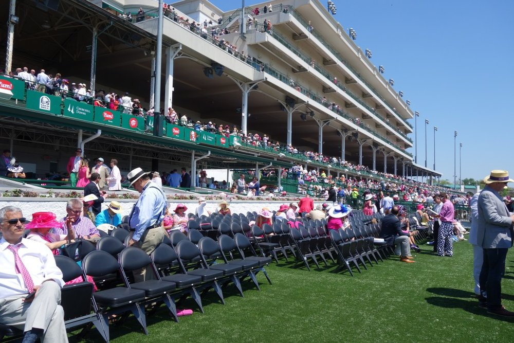 the courtyard area near the winners circle at churchill downs