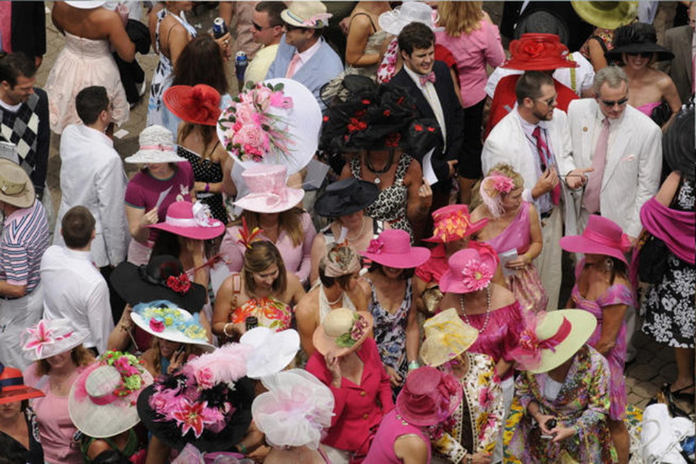 the clubhouse crowd on kentucky oaks day