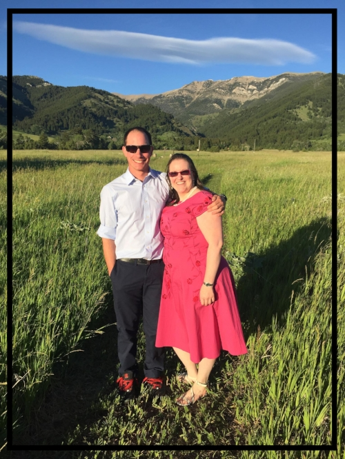 Michael & I at the backyard wedding June 2017 ~ Bozeman, Montana