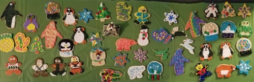 Decorated cookies from my annual cookie decorating party ~ 2017