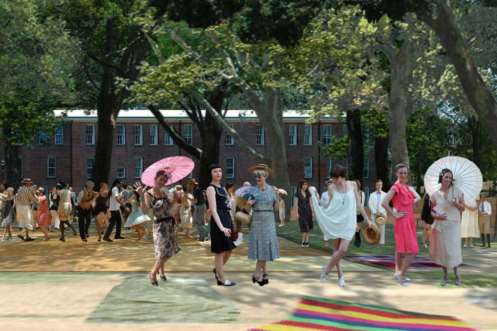 Governor's Island Jazz Age Lawn Party in 3D