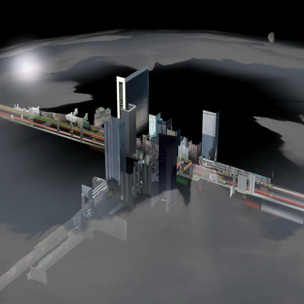 Street Spaceship (36 Movie Frames of a Virtual World Series, No 12/36)