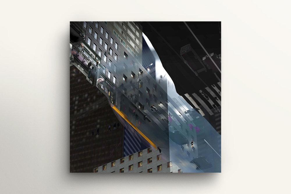 36 Movie Frames of a Virtual World Series, No. 19, by Martin Lenclos