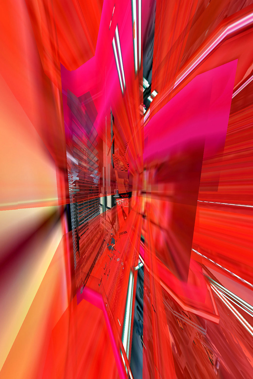 Times Square Descent Into Paranoia (New York Exit New York© Series, No. 1)