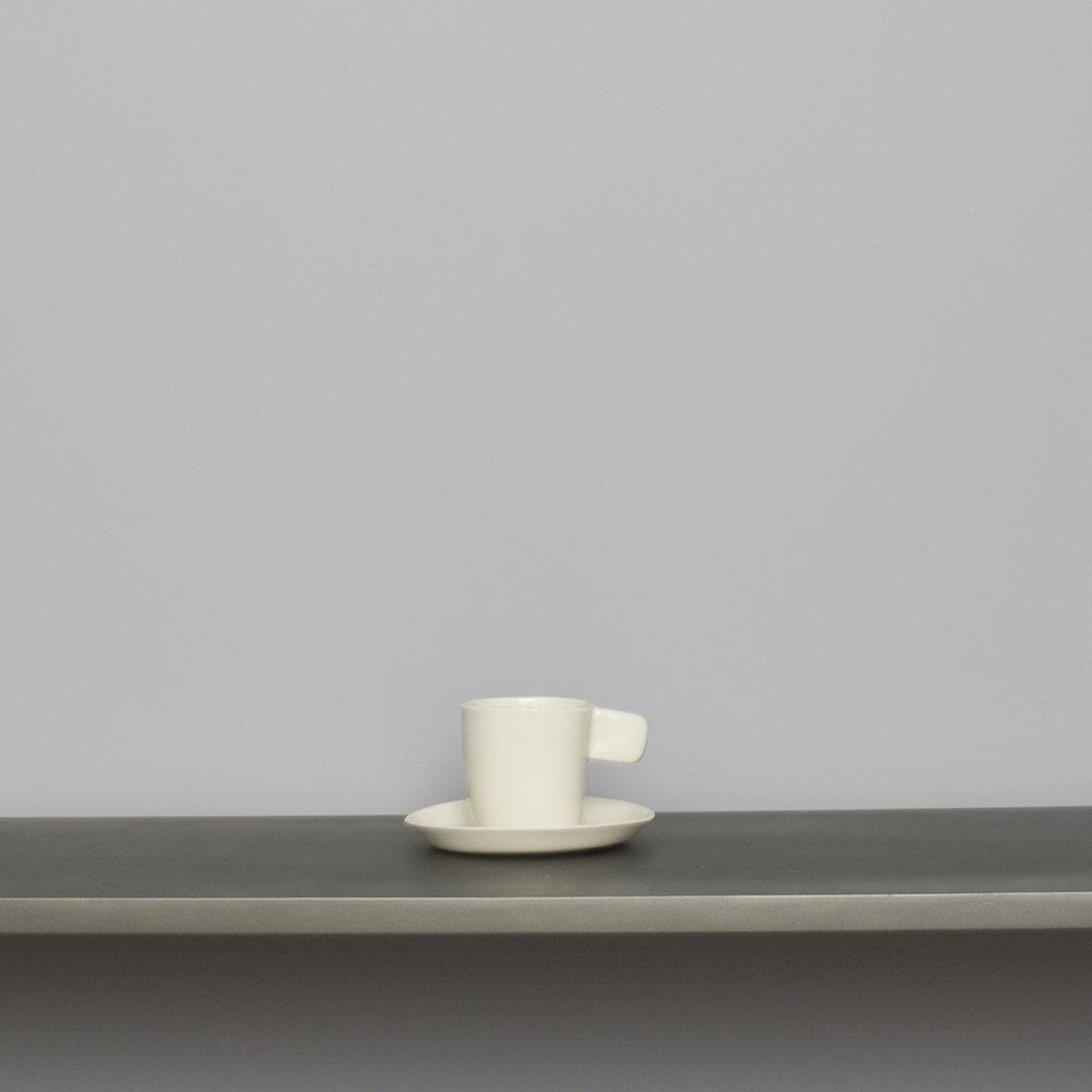Soft White Espresso Cup w Saucer