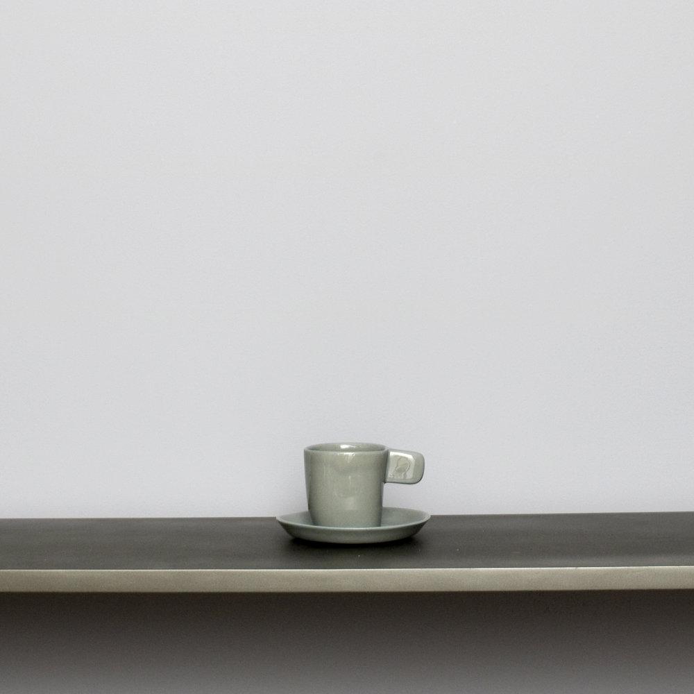 Dk Gray Espresso Cups