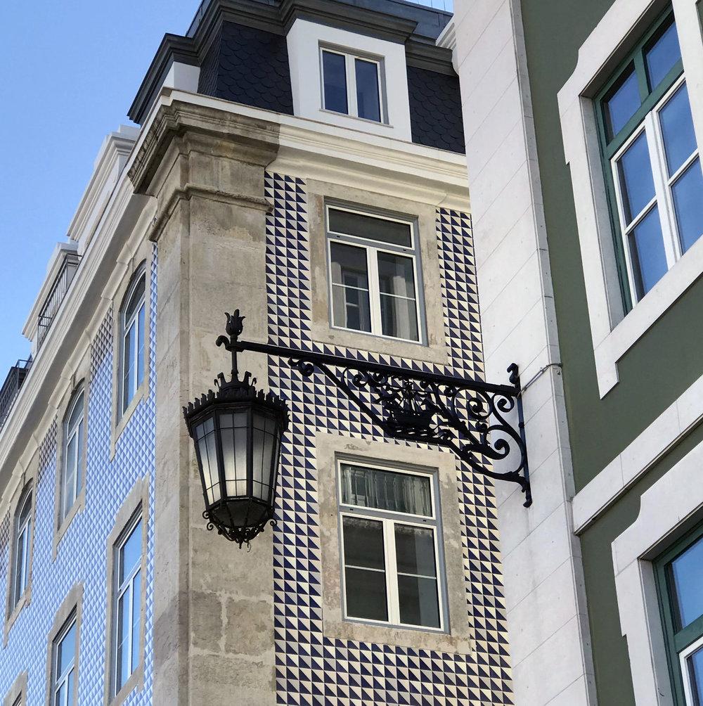 The Tiled Azulejo Lisbon  Buildings