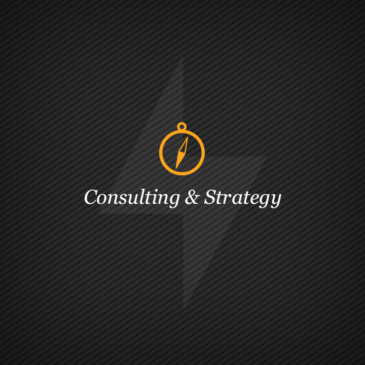 Consulting & Strategy    Your road map to results. We'll identify what it takes to reach your business goals, then help you meet them.We plan the work, then the work plan.