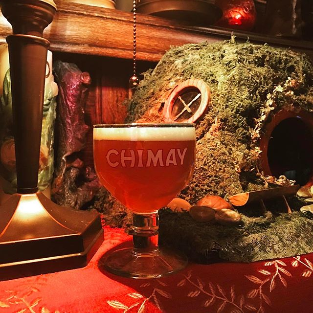 Stop by this evening for Chimay Chalice Night. Free glassware! #Chimay#Hobbitcafe#houstoncraftbeer#houstonpatio