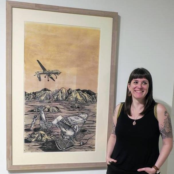 Edie Overturf - PRONOUNS: She/HerMEDIUMS: Printmaking and DrawingWEBSITES: Website - Instagram