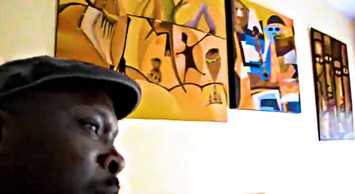Akassa in his Dakar studio