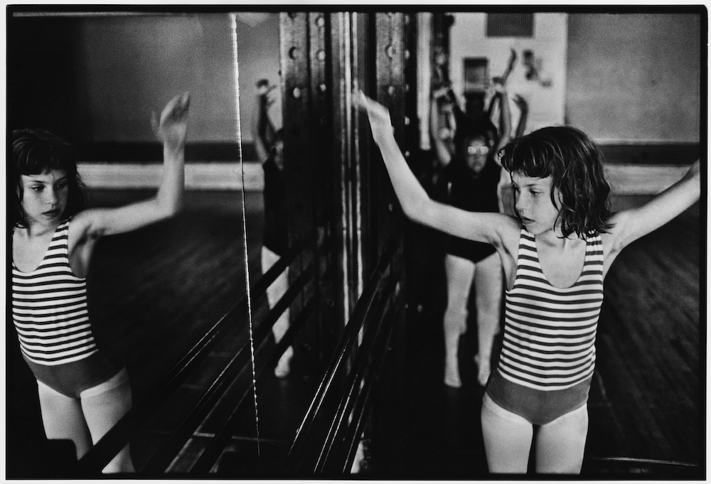 "Children's dance class. Shorefront ""Y."" Coney Island Avenue and Brighton Beach Boardwalk. March 22, 1987."