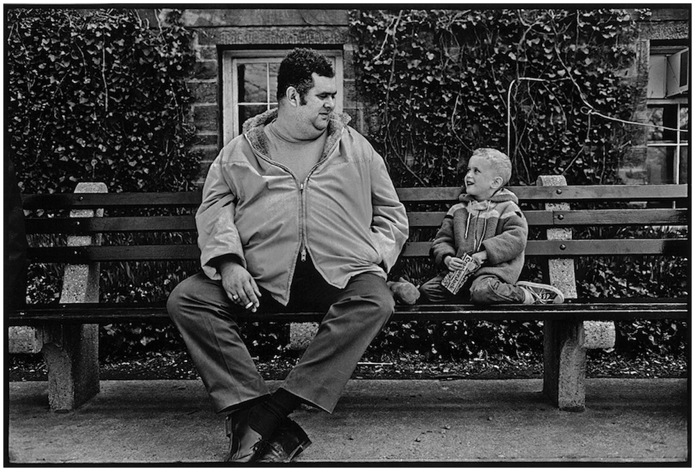 """Big Guy, Little Guy,"" Central Park, NYC, 1966."