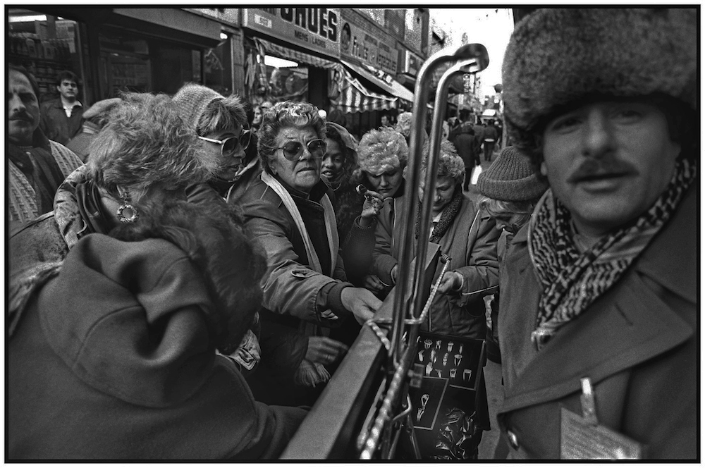 A popular jewelry vendor, Brighton Beach Avenue. Jan 7, 1990