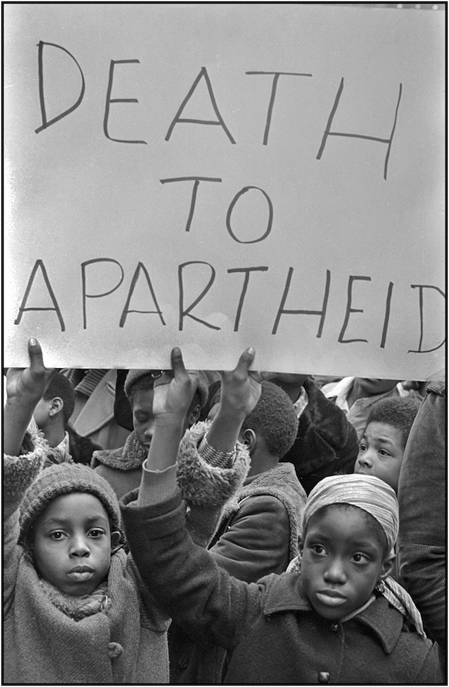 """Death to Apartheid,"" NYC, 1977."