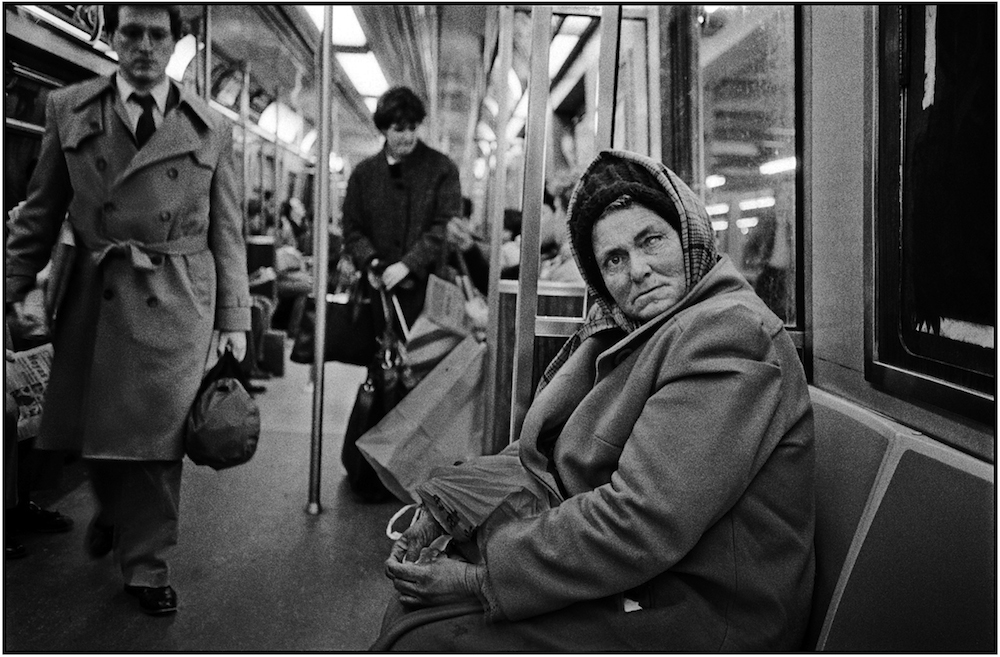 """Eye Contact,"" Subway, NYC, 1989."