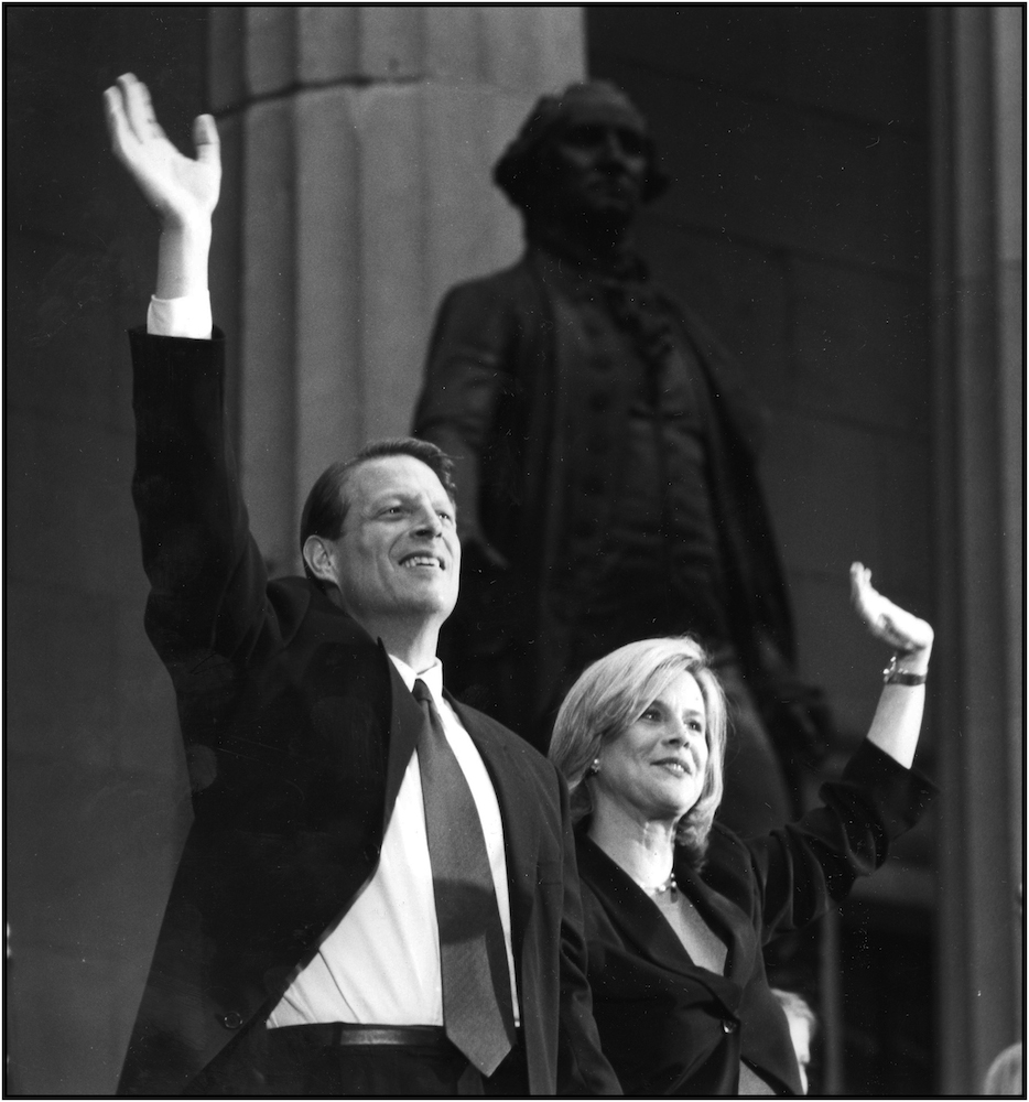 Al and Tipper Gore, 1992.