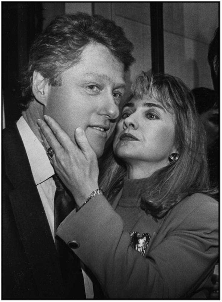 Bill and Hillary Clinton, 1992.