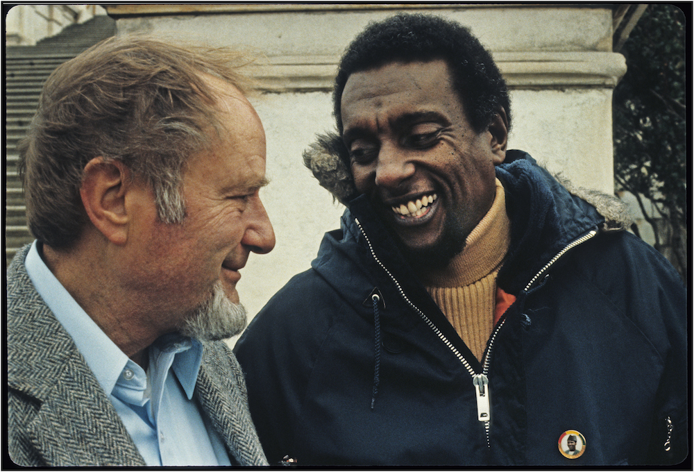 Dave Dellenger and Stokely Carmichael, Wash., D.C., March 22, 1980.