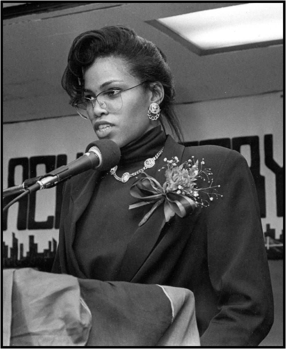 Milikah Shabbaz (Malcolm X's daughter), 1989.