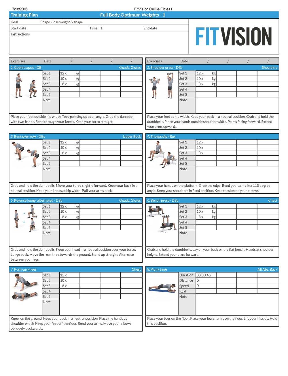 Optimum Full Body Workout