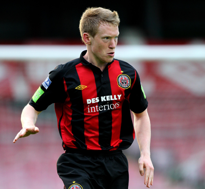 Mark O'Reilly playing for Bohemians