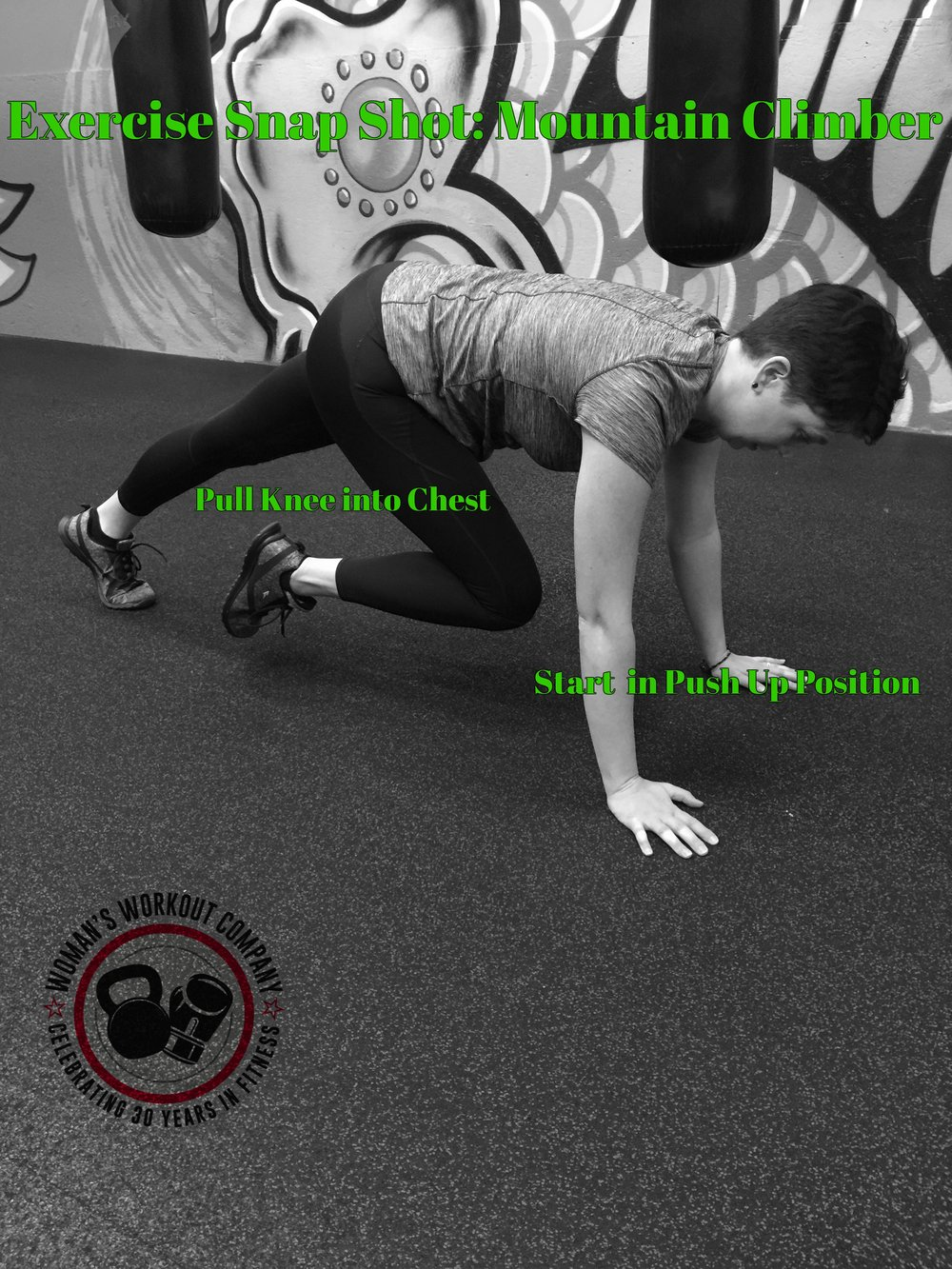 Begin in a pushup position, with your weight supported by your hands and toes. Flexing the knee and hip, bring one leg until the knee is approximately under the hip. This will be your starting position. Explosively reverse the positions of your legs, extending the bent leg until the leg is straight and supported by the toe, and bringing the other foot up with the hip and knee flexed. Repeat in an alternating fashion for 20-30 seconds.