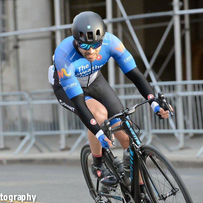 Coach Karl rounds the uphill right turn at the CRCA Grant's Tomb Criterium. Photo/ Kevin Hatt