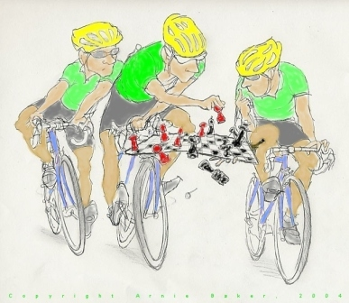 Image from Strategy & Tactics for Cyclists eBook, copyright Arnie Baker, MD, 1998-2013. Used by permission.