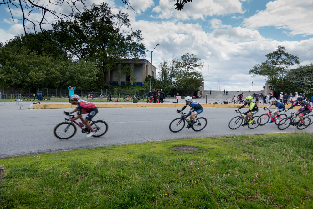 Racers in action at the 2016 CRCA Orchard Beach Criterium. This photograph and the header image from the To Be Determined Race Recap.