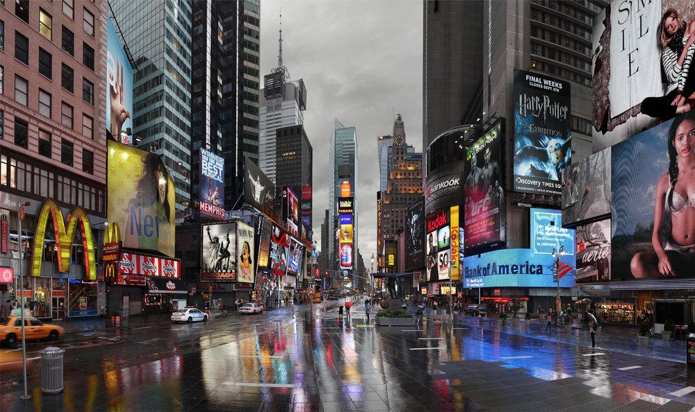 Hurricane Irene Times Square - New York, 2011