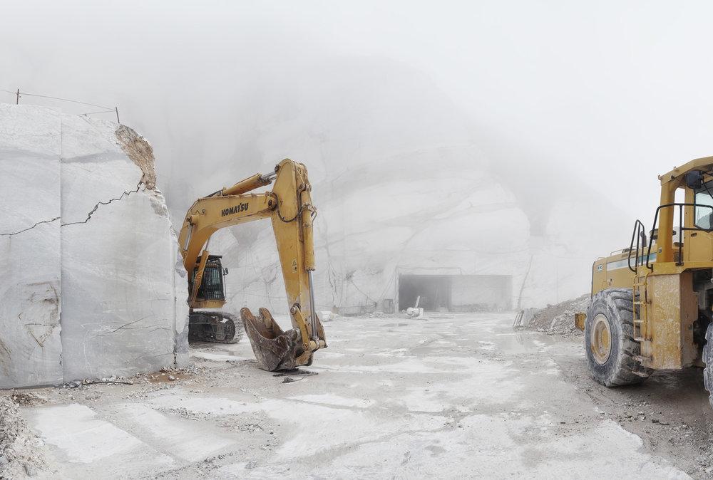 Excavators - Carrara, Italy 2015