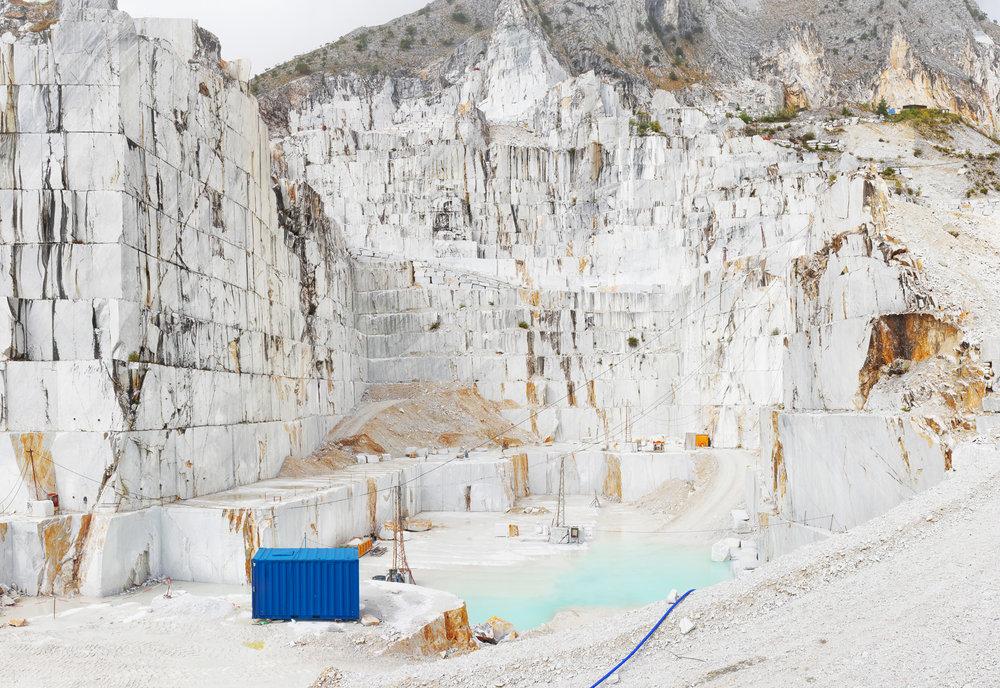 Blue Container - Carrara, Italy 2015 -  Ref:  ITCA_CA1