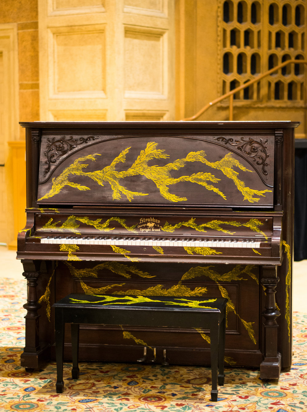 As part of Portland Art Museum's Piano Push Play Exhibit, Julianna adorned this vintage beauty. Now permanently on display and available to play at Brooklyn's Know Thy Food.
