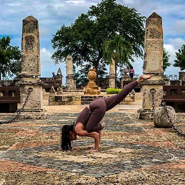 Day 9 of @melting_point_hotyoga #findyourmeltingpoint Challenge is Figure 4 Variation I chose to fly today with #ekapadagalavasana  Currently hubbed out in Casa De Campo, DR. Such beauty and authenticity everywhere. Life is good. . . . . . . . #yoga #yogachallenge #yogaeverydamnday #yogi #yogini #strength #balance #fitspo #fitspiration #yogateacher #yogalife #travelgram #wanderlust #yogalove #yogapants #happygirl #globetrotter #islandlife  #yogagram #armbalance #liveauthentic #naturelover #lknyoga  #namaste