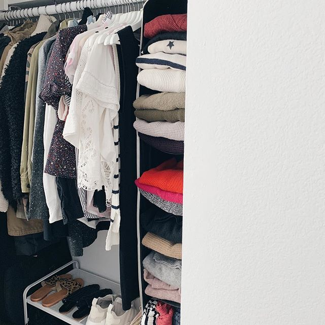 My new wardrobe space is still a work in progress but  I'm pretty much there...I can't stand a disorganized wardrobe. What are your wardrobes like? Do you take the time to keep it tidy? Do you wish you had an organized wardrobe? Why don't you, are time limitations, space limitations, or both an issue? I'm interested!