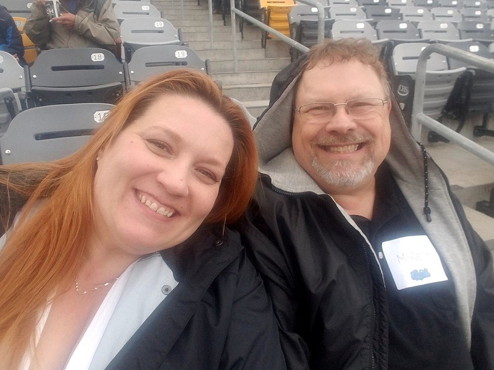WAI Marketing Coordinator  Christine Zrust  with WAI Administrative Director  Michael Paulson .   (Yeah... bad picture of me, but I guess if you are going to insist everyone let you take pictures, you have to be willing to share a few bad selfies!)