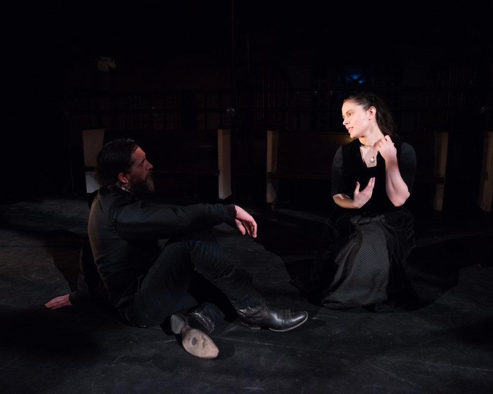 Adam Belvo, Sara Fellini. Photo by Anthony Collins.